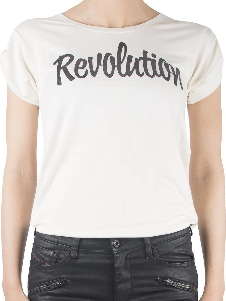 VLVT VLVT Revolution t-shirt crème
