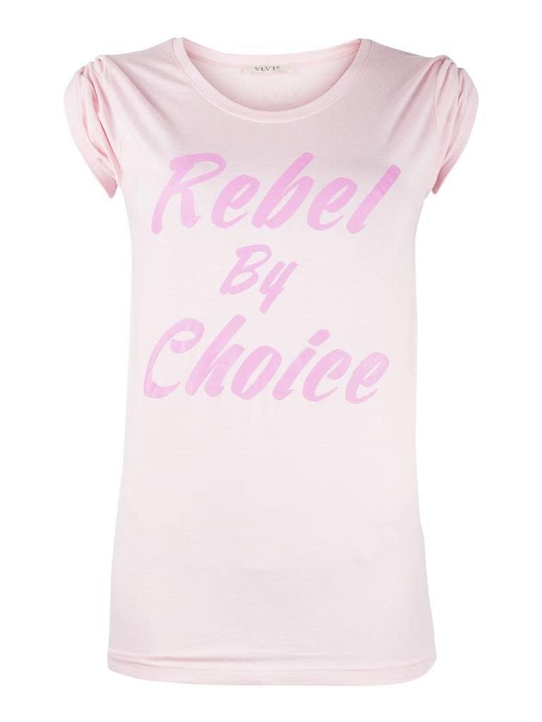 VLVT VLVT Rebel by choice T-Shirt rosa