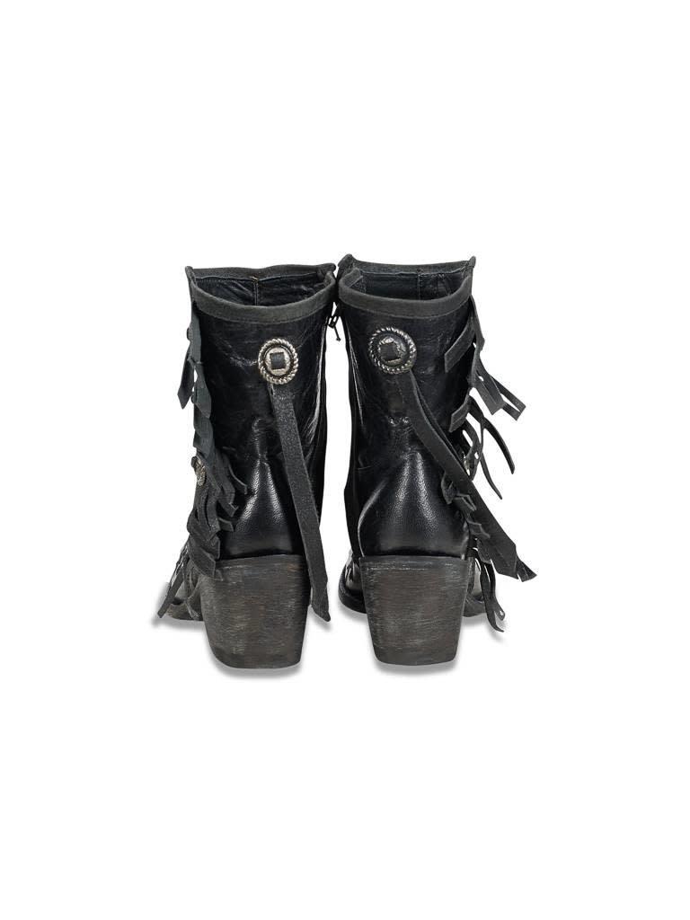 Mexicana Mamacita geborduurde laarzen zwart