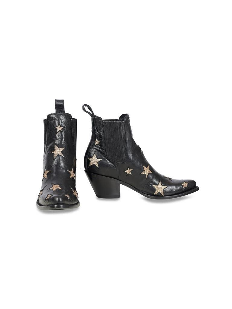 Mexicana Circus boots black gold