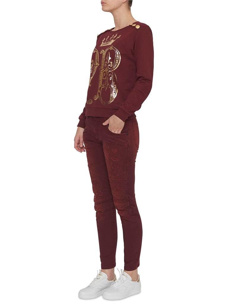 Pierre Balmain Pierre Balmain distressed jeans rood