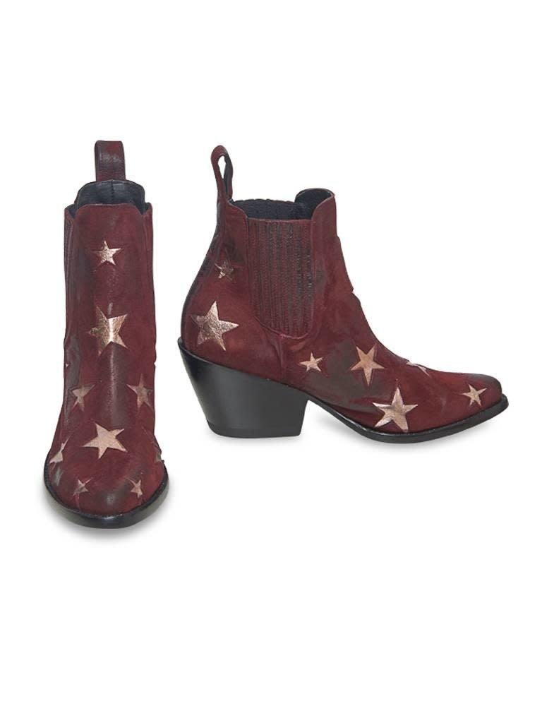Mexicana Circus laarzen rood goud