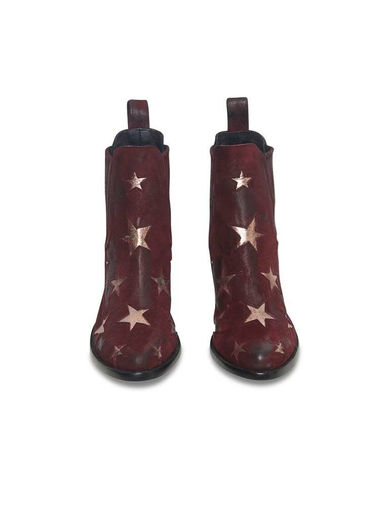 Mexicana Circus boots red gold