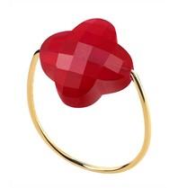 Morganne Bello Morganne Bello Klaver ring rood goud