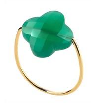 Morganne Bello Morganne Bello Klaver ring groen goud