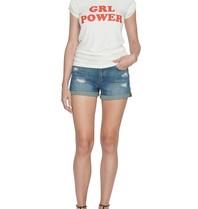VLVT VLVT girl power t-shirt met opdruk wit rood
