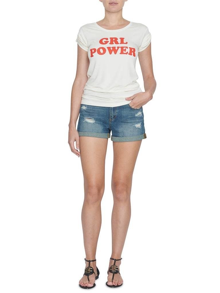 VLVT VLVT girl power t-shirt with print white red