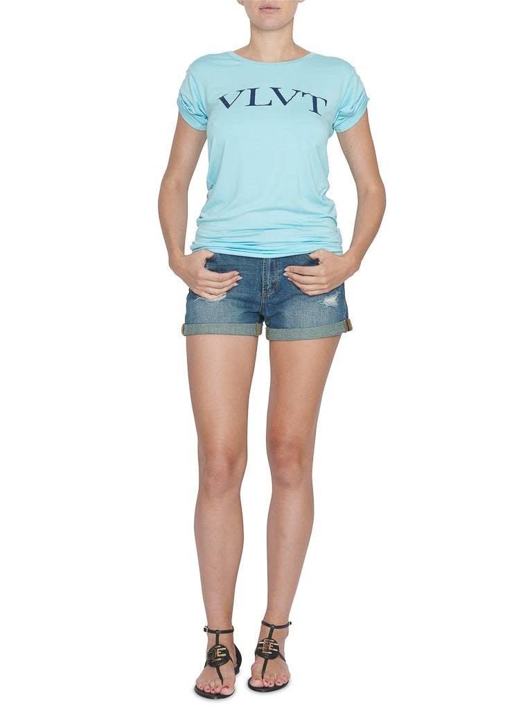 VLVT VLVT T-shirt with print blue dark blue