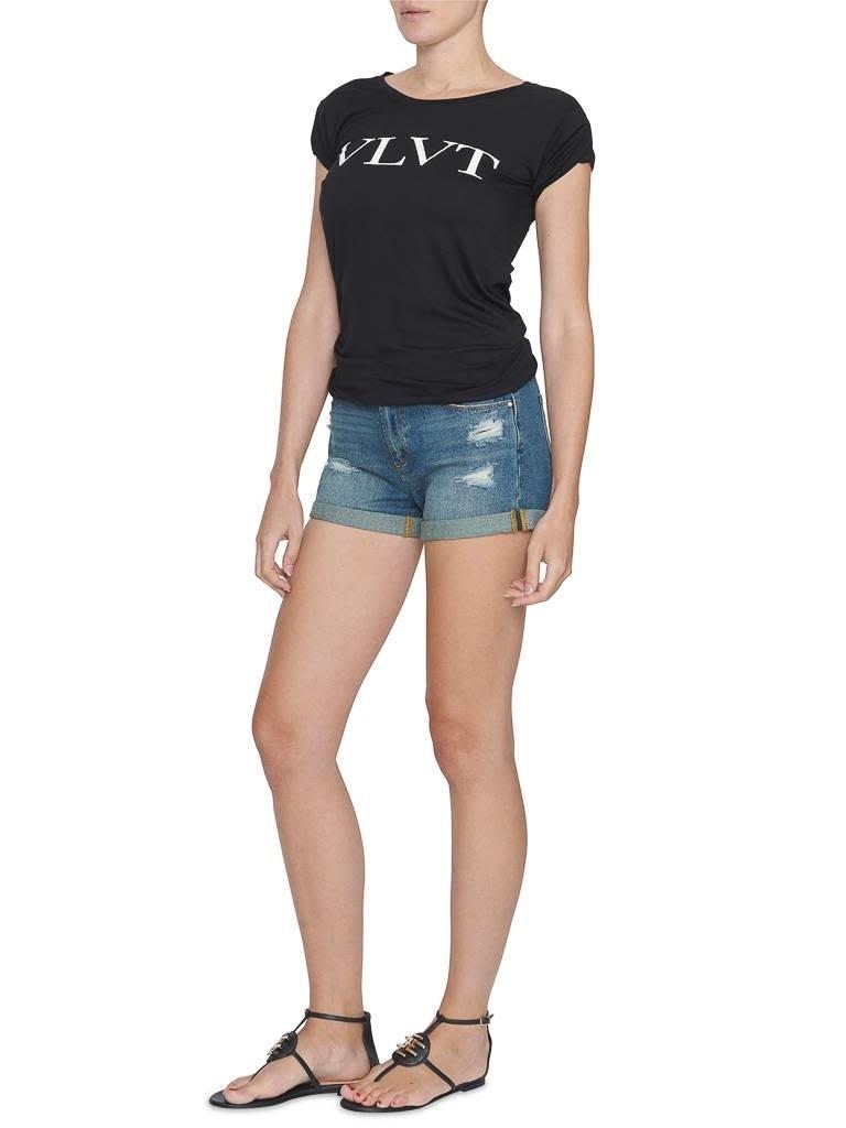 VLVT VLVT t-shirt  met opdruk zwart wit