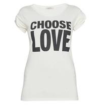 VLVT VLVT choose love t-shirt met opdruk wit zwart