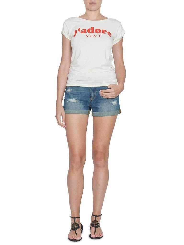 VLVT VLVT j'adore t-shirt with imprint white red