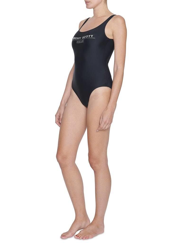 Jeremy Scott Jeremy Scott swimsuit with silver text black