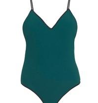 Tooshie Tooshie Isabella Badeanzug dunkelgrün Schiefer
