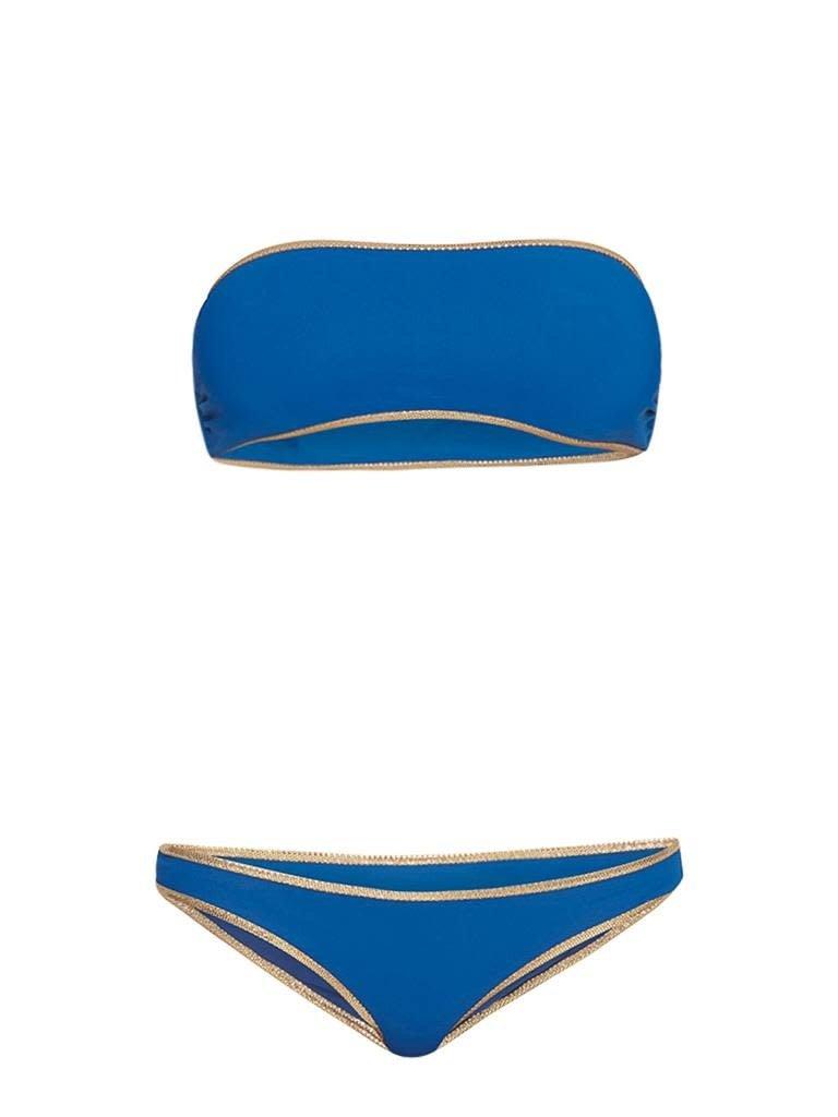 Tooshie Tooshie Hampton reversible bandeau bikini blauw
