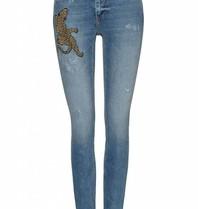 Zoe Karssen Zoe Karssen Patti jeans met opdruk blauw