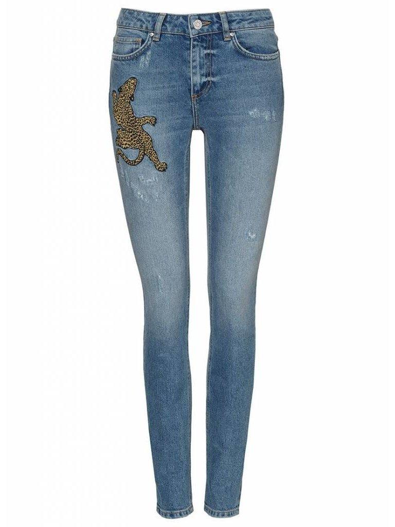 Zoe Karssen Patti jeans met opdruk blauw