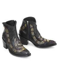 Mexicana snake boots with studs and stars black
