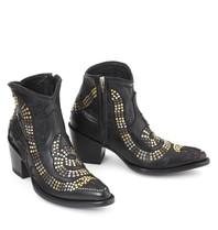 Mexicana snake laarzen met studs en sterren zwart