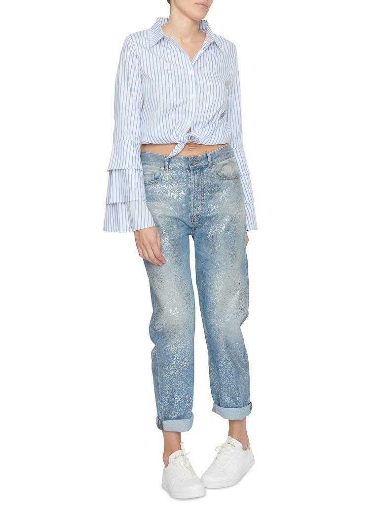 Pt05 PT05 Loose fit jeans with shimmer details
