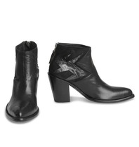 Mexicana Black Baby Sierra boots with silver colored detail black