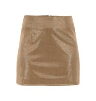 Runaway The Label Runaway the Label Sparkle metallic skirt gold