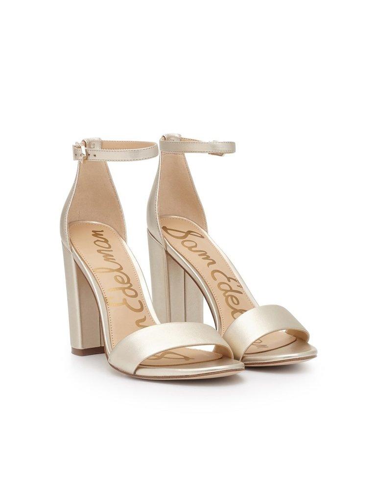 Sam Edelman Sam Edelman Yaro block heel sandal light gold