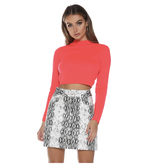 Runaway The Label Runaway The Label Trippin cropped turtleneck neon coral