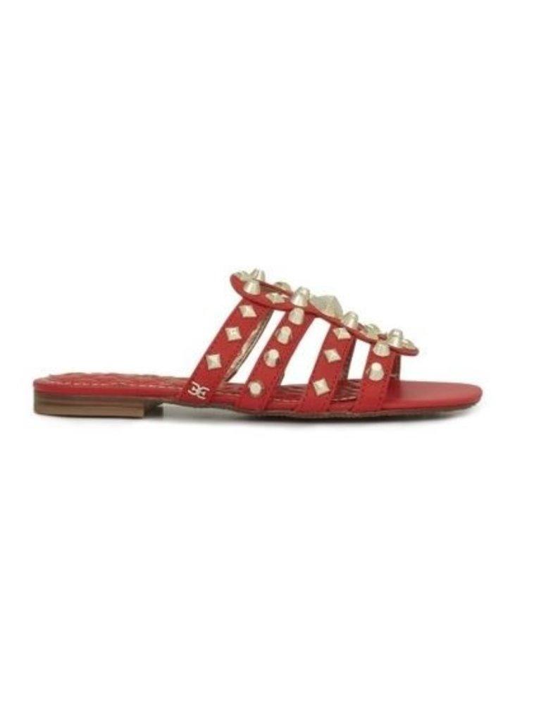 Sam Edelman Sam Edelman Beatris Slide Sandalen rood met studs