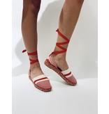 So Jamie So Jamie Oase espadrilles met laces rood wit