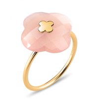 Morganne Bello Morganne Bello Ring yellow gold Moonstone Peach stone