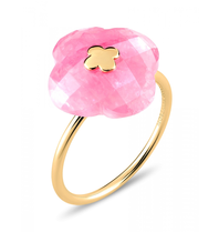 Morganne Bello Morganne Bello Ring yellow gold Rhodochrosit stone