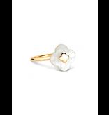 Morganne Bello Morganne Bello Ring met mini parelmoer steen geelgoud