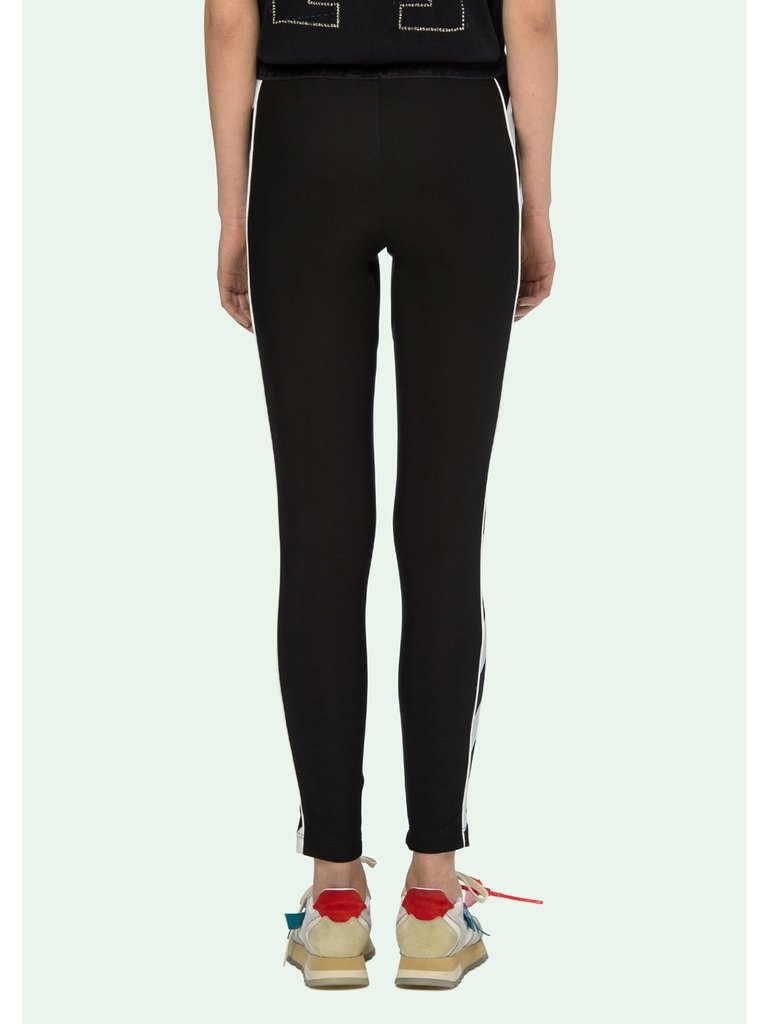 Off-White OFF-WHITE Diag atheltic leggings with striped trim black