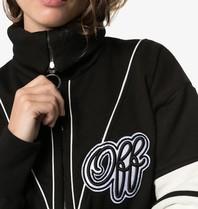 Off-White OFF-WHITE Kurzes Sweatshirt mit Logo-Print und Reißverschluss in Schwarz