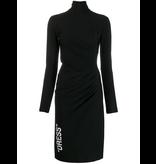 Off-White Off-White Gedrapeerde jurk met col zwart