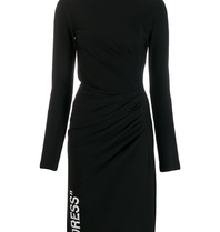Off-White Off-White Draped dress with black turtleneck