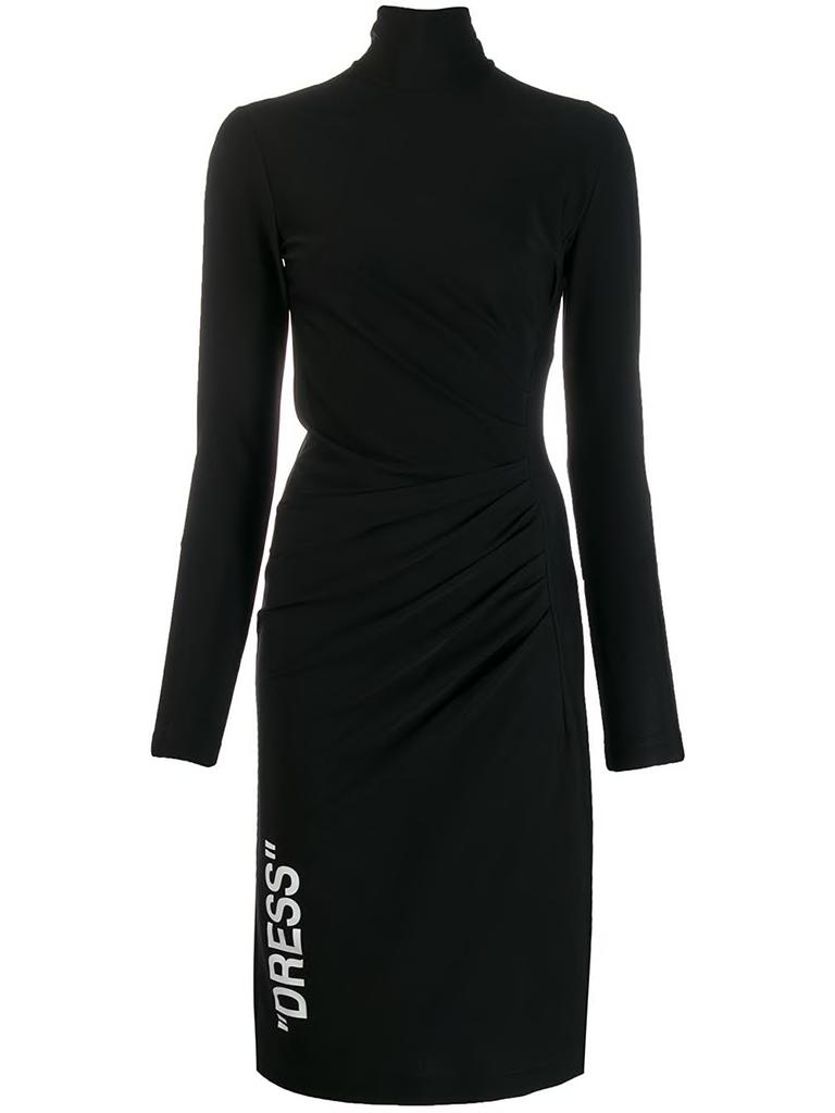 Off-White Off-White Draped dress with black turtleneck