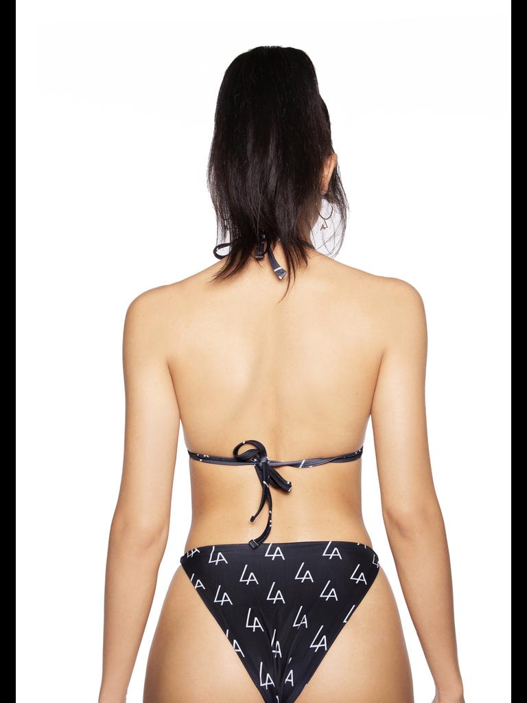 La Sisters LA Sisters Logo Triangel Bikini schwarz