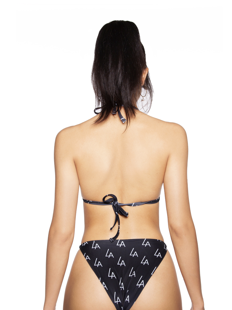 La Sisters LA Sisters Logo triangle bikini zwart