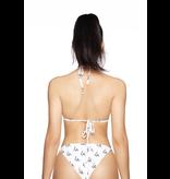 La Sisters LA Sisters Logo triangle bikini white