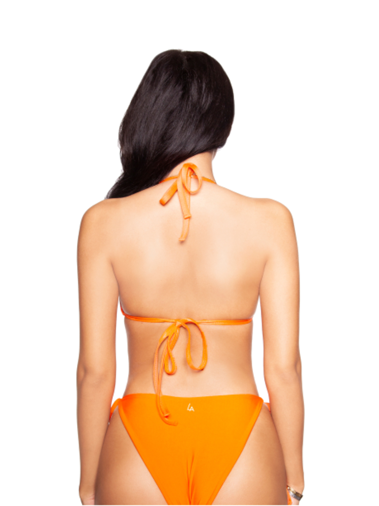 La Sisters LA Sisters basic triangle bikini orange