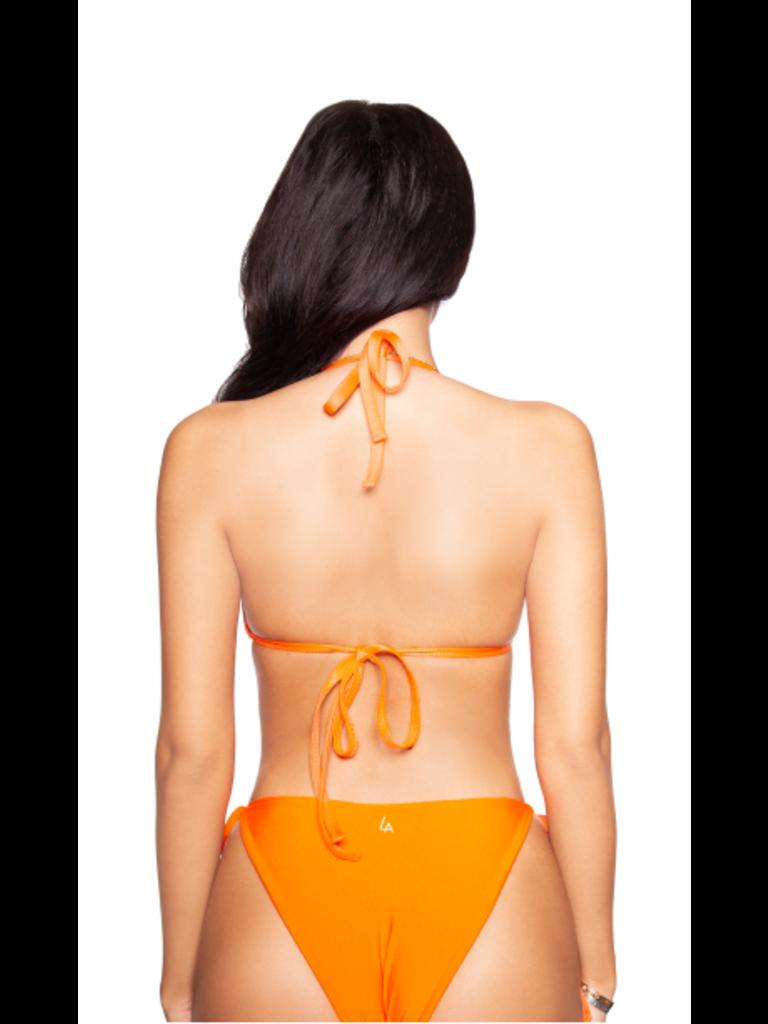La Sisters LA Sisters basic triangle bikini oranje