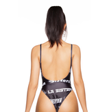 La Sisters LA Sisters Fonts swimsuit black