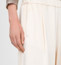 Semicouture Semicouture loose-fitting trousers cream