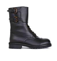 Semicouture Semicouture Hank combat boots met gespen zwart