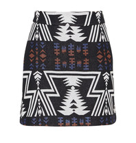 Semicouture Semicouture mini skirt with aztec print black