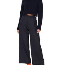 Semicouture Semicouture losvallende pantalon donkerblauw