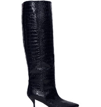 Semicouture Semicouture high boots with crocodile motif dark blue