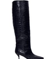 Semicouture Semicouture-Stiefel mit Krokodilmotiv dunkelblau