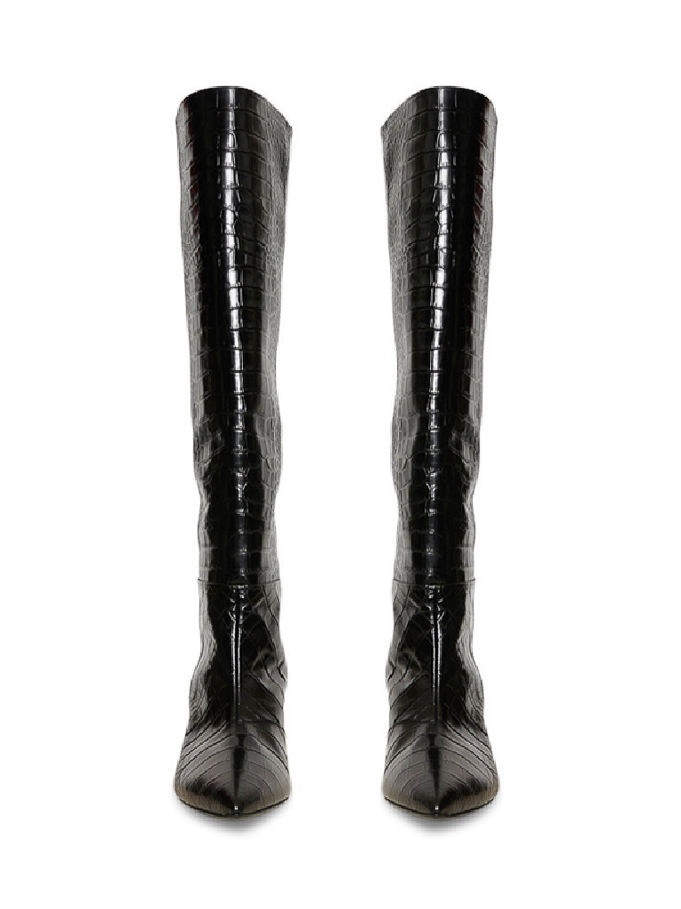 Semicouture Semicouture high boots with crocodile motif black